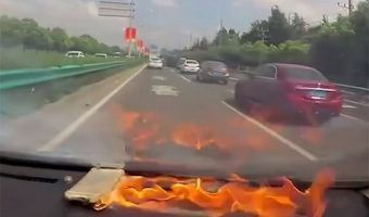 VIDEO: Explota iPhone en un auto en China