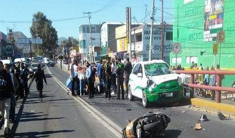 VIDEO: Fallece motociclista en choque en Ecatepec
