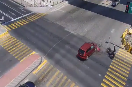 Video: Capta cámara atropellamiento de motociclista en Lerma
